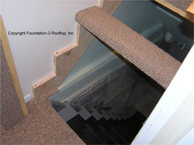 Custom stairs that go up and down at the same time
